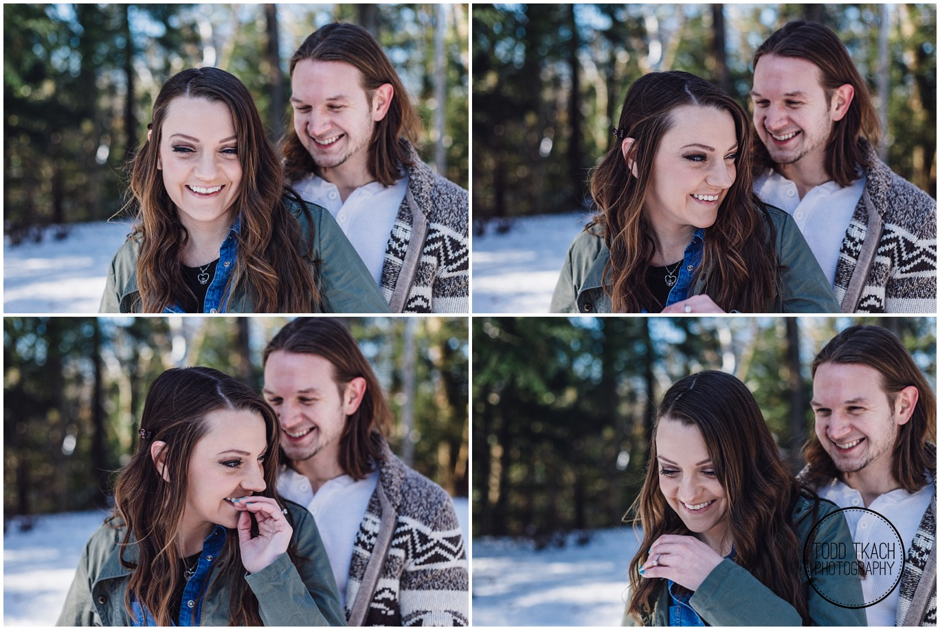 Meggan & Jimi Laughter Portrait Collage - McConnells Mill Engagement