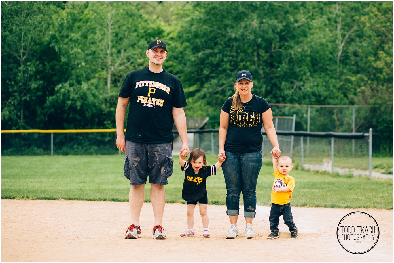 Jacob & Family Ball Field Portrait