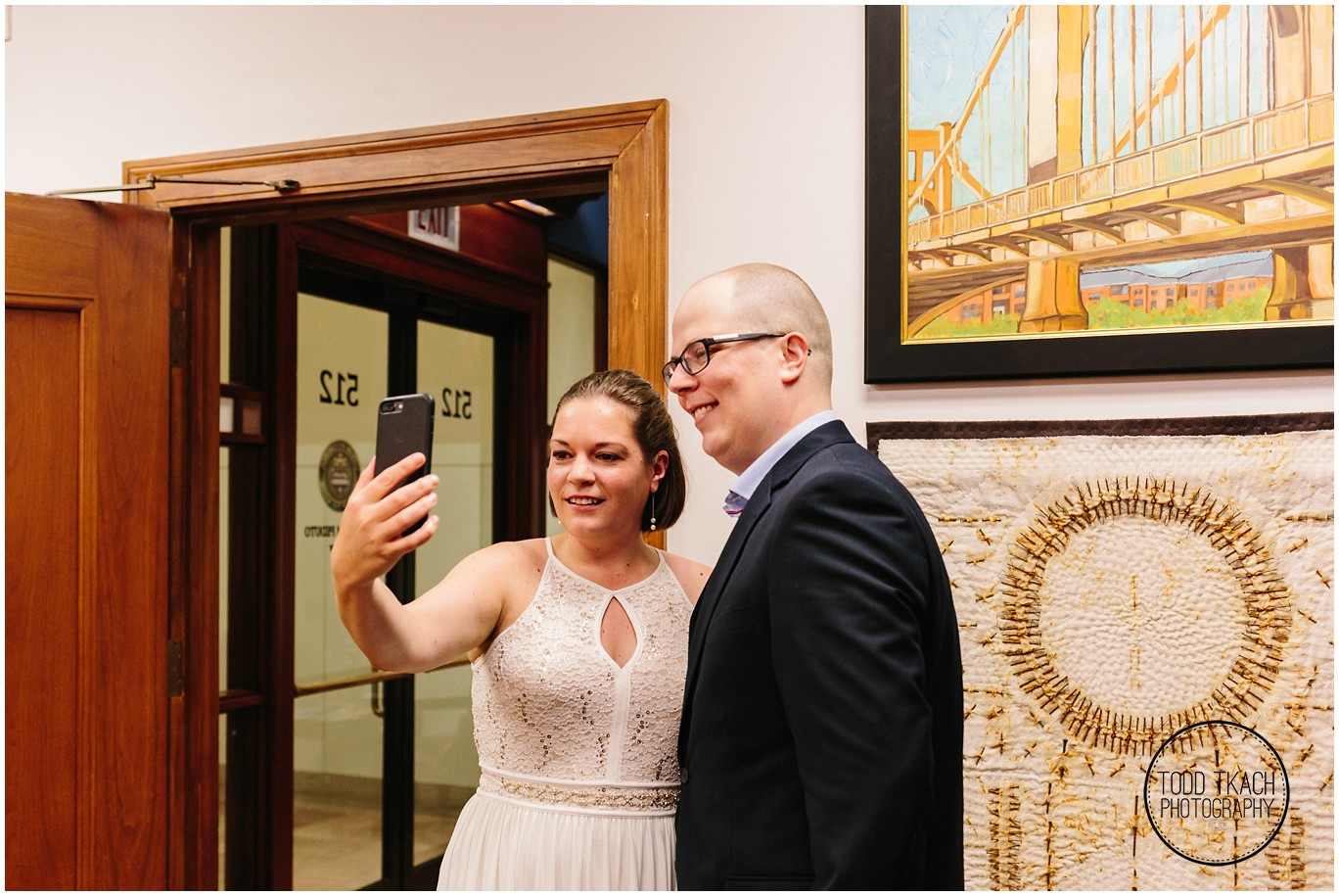 Abby & Scott Wedding Selfie