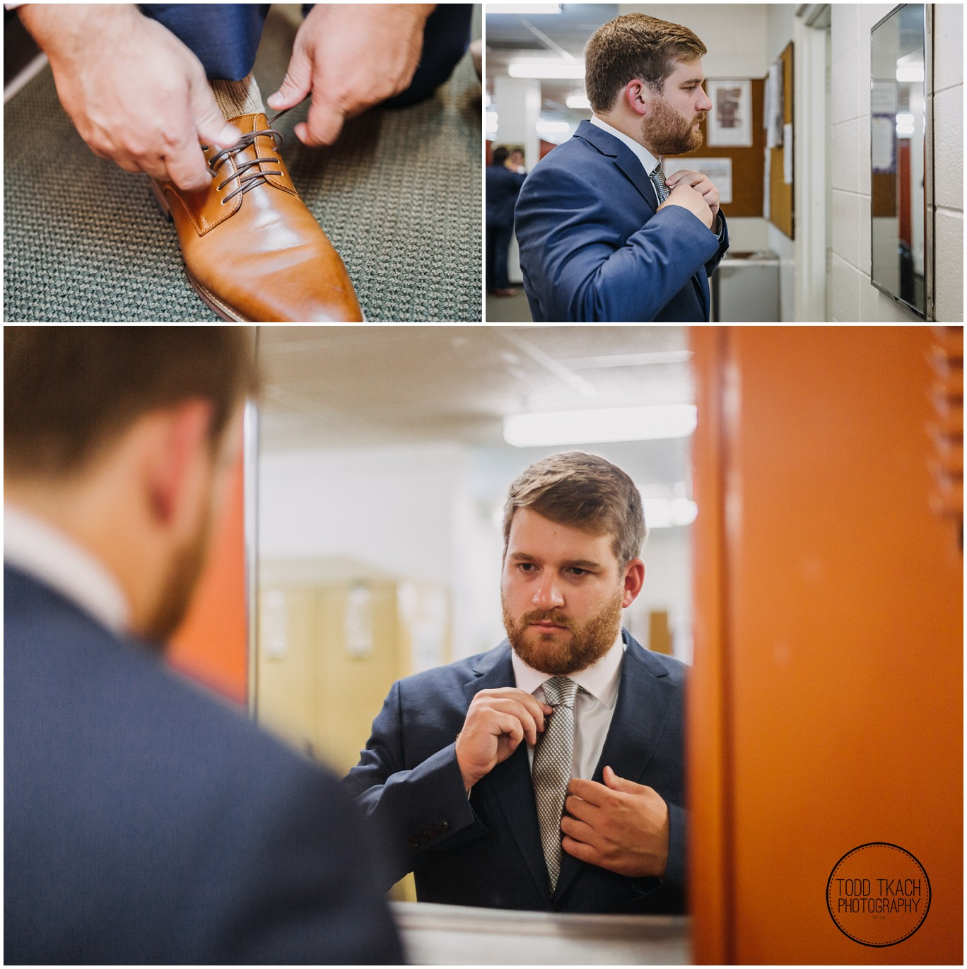 Phil & Caitlin - Seven Oaks - Phil Wedding Prep Collage