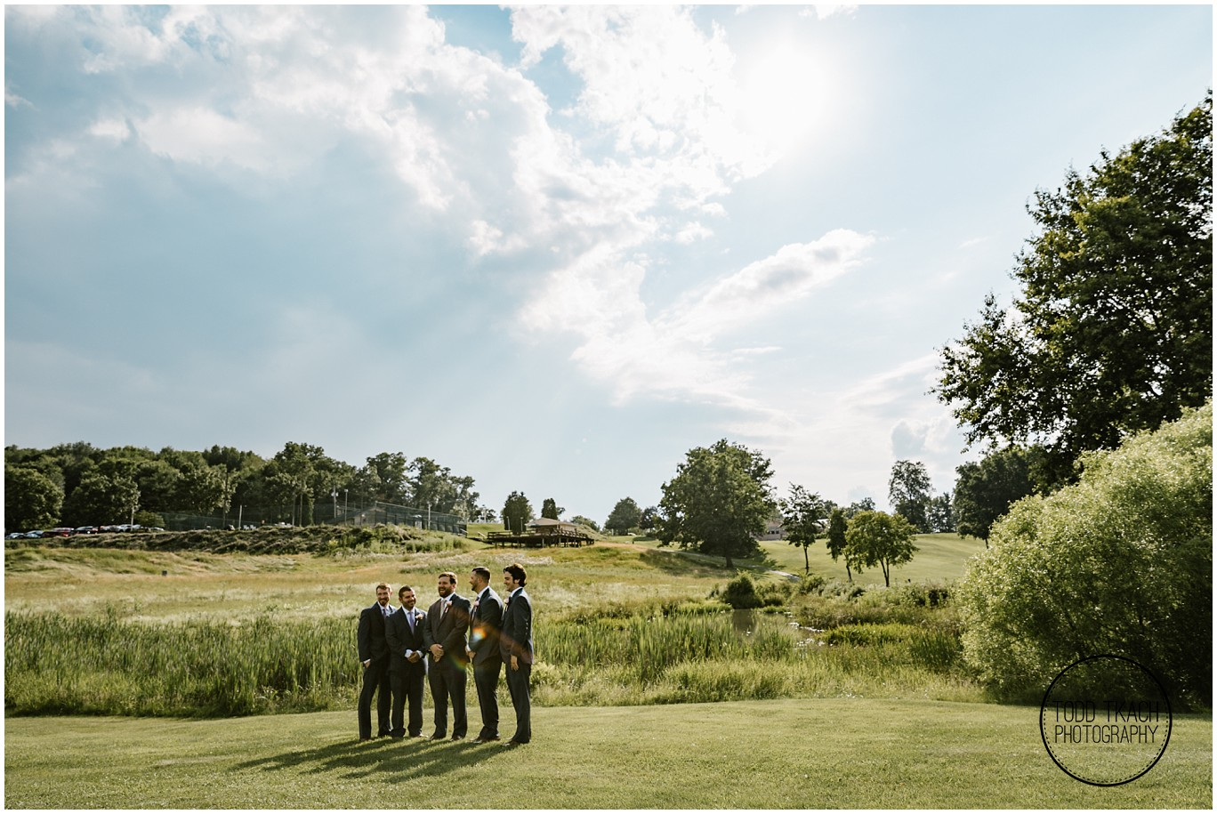 Phil & Caitlin - Seven Oaks - Sunrays Groomsmen Portrait