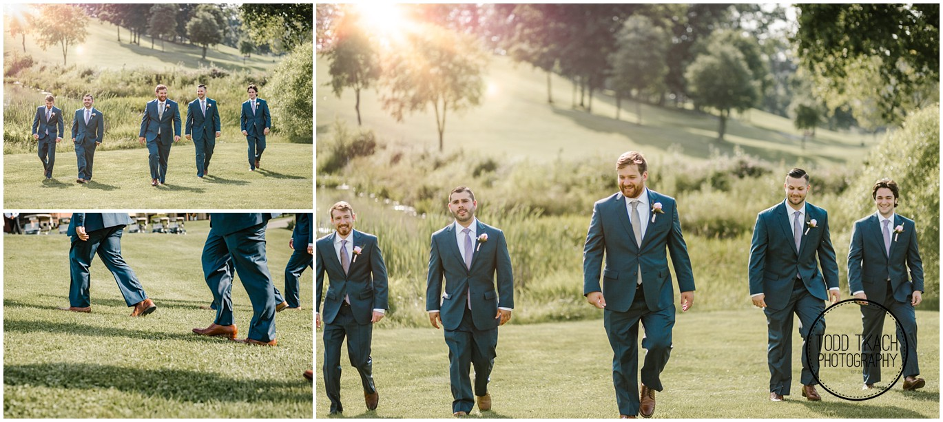 Phil & Caitlin - Seven Oaks - Phil & Groomsmen Collage