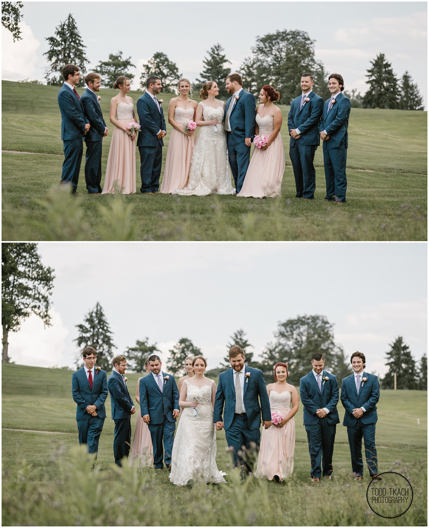 Phil & Caitlin - Seven Oaks - Bridal Party Collage