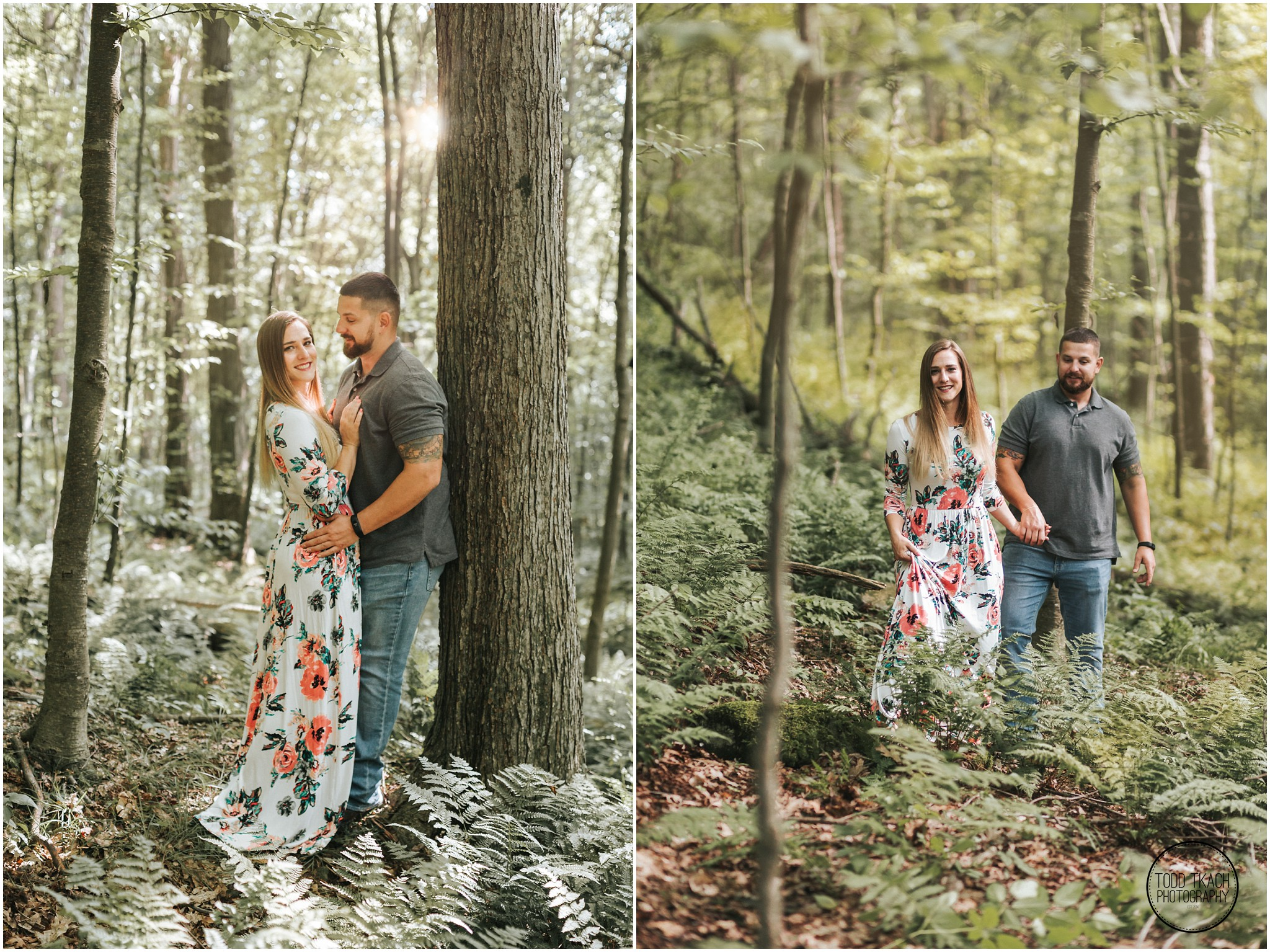 Kim & Brandon Engagement - Forest Collage