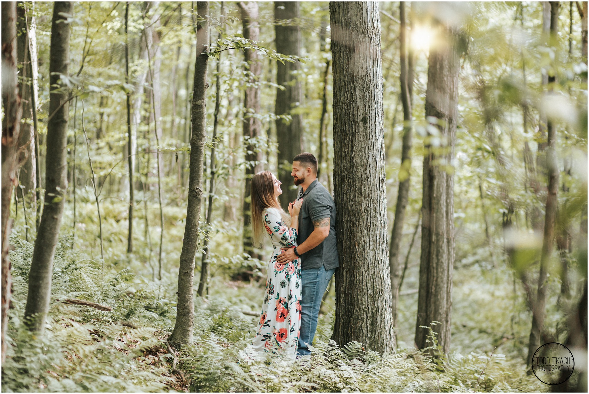 Kim & Brandon Engagement - Sunlight Forest