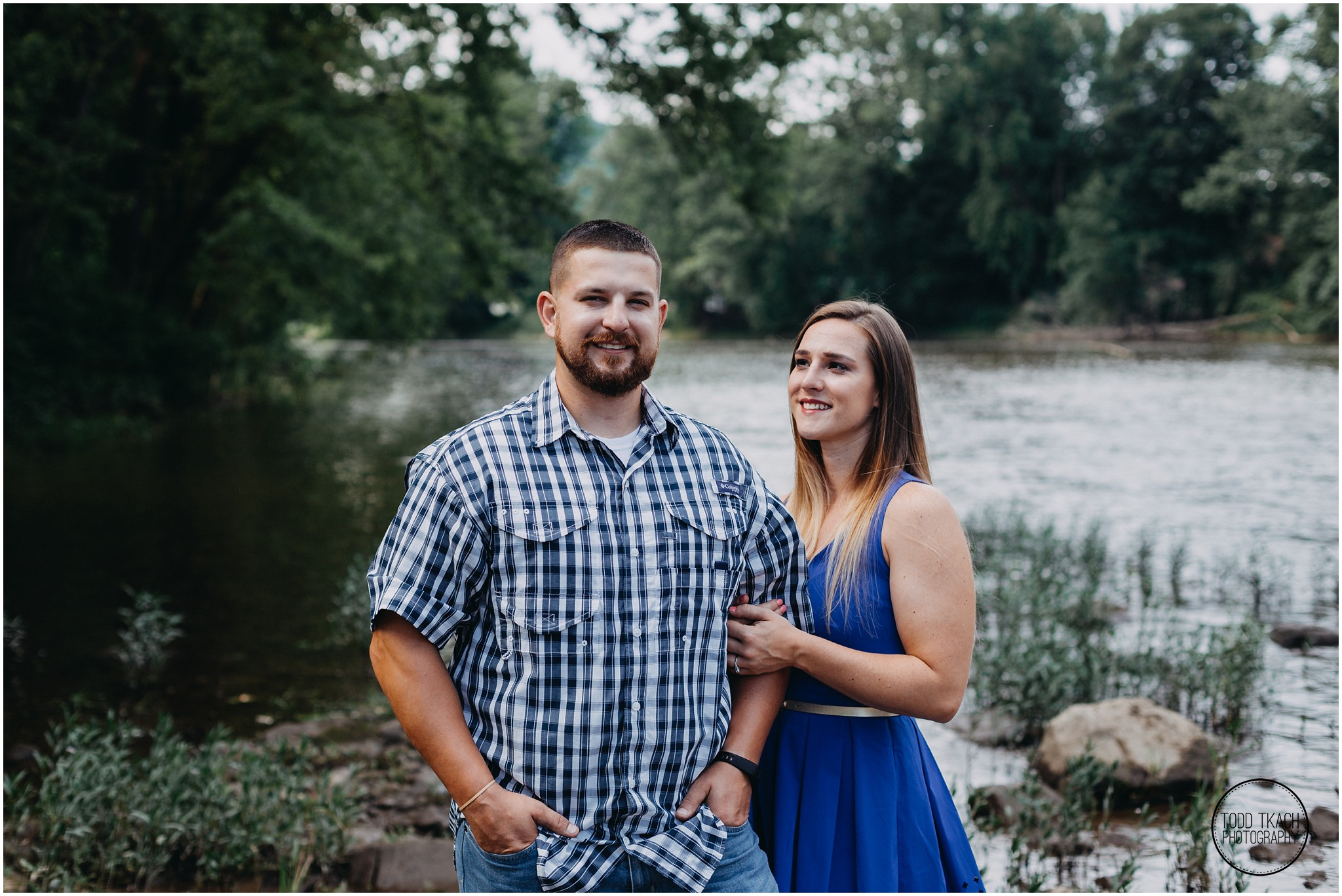 Kim & Brandon Engagement - Water's Edge Portrait