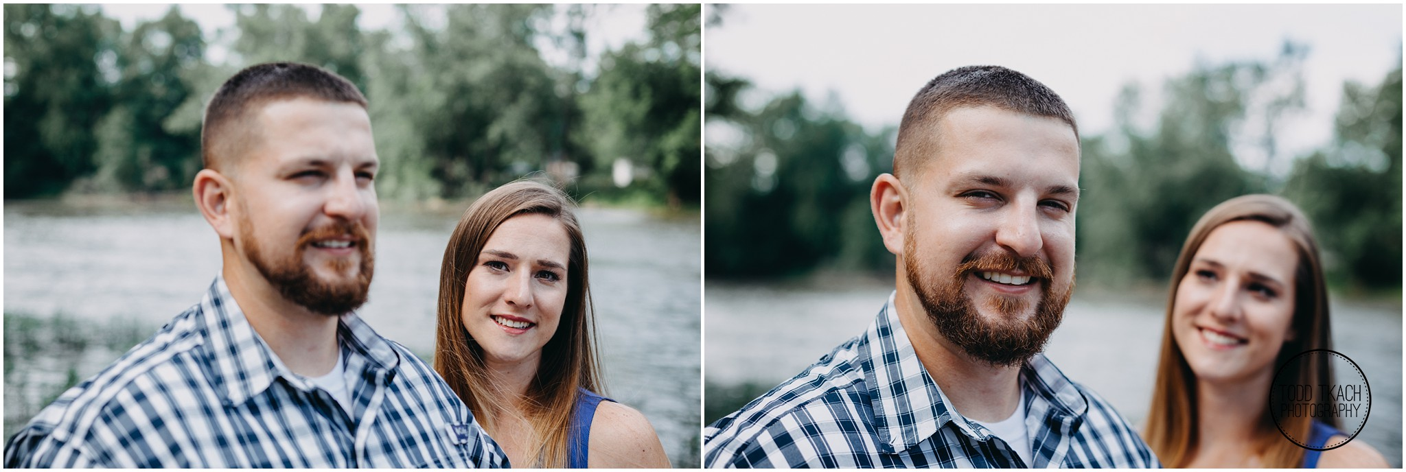 Kim & Brandon Engagement - Split Screen Portrait