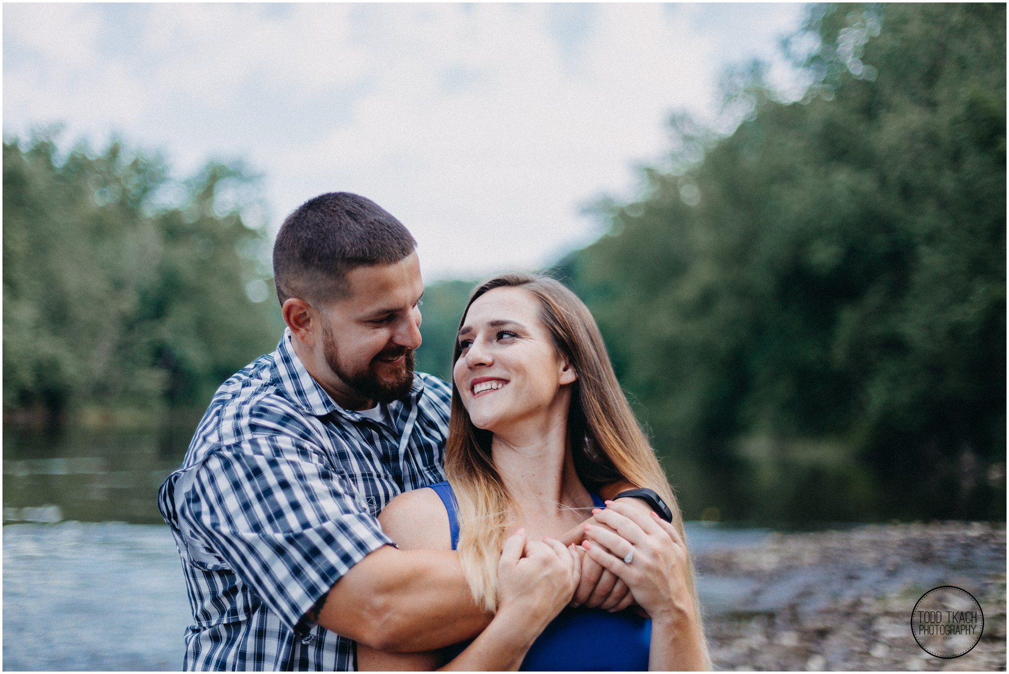 Kim & Brandon Engagement - Laughter Portrait