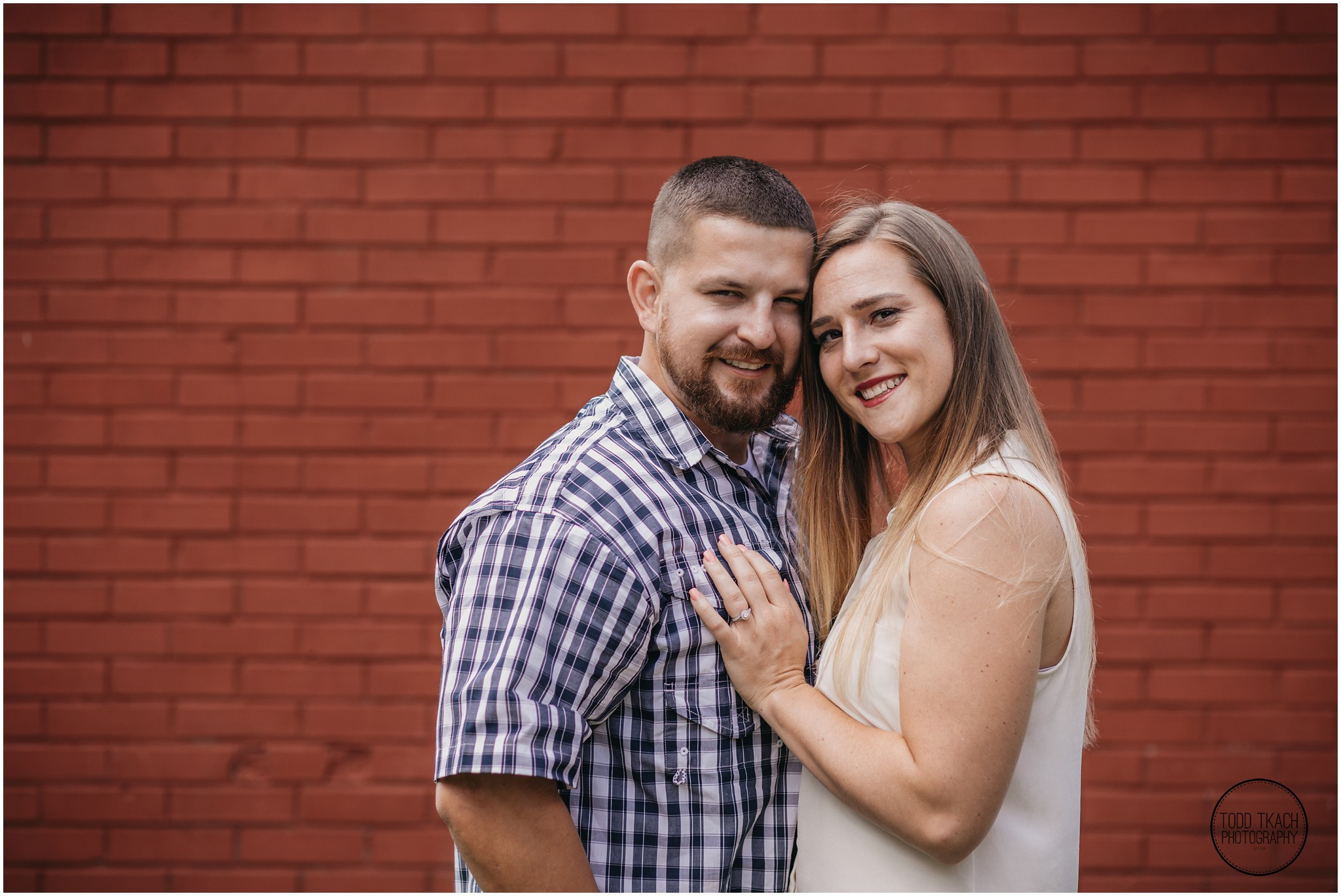 Kim & Brandon Engagement - Red Brick Portrait