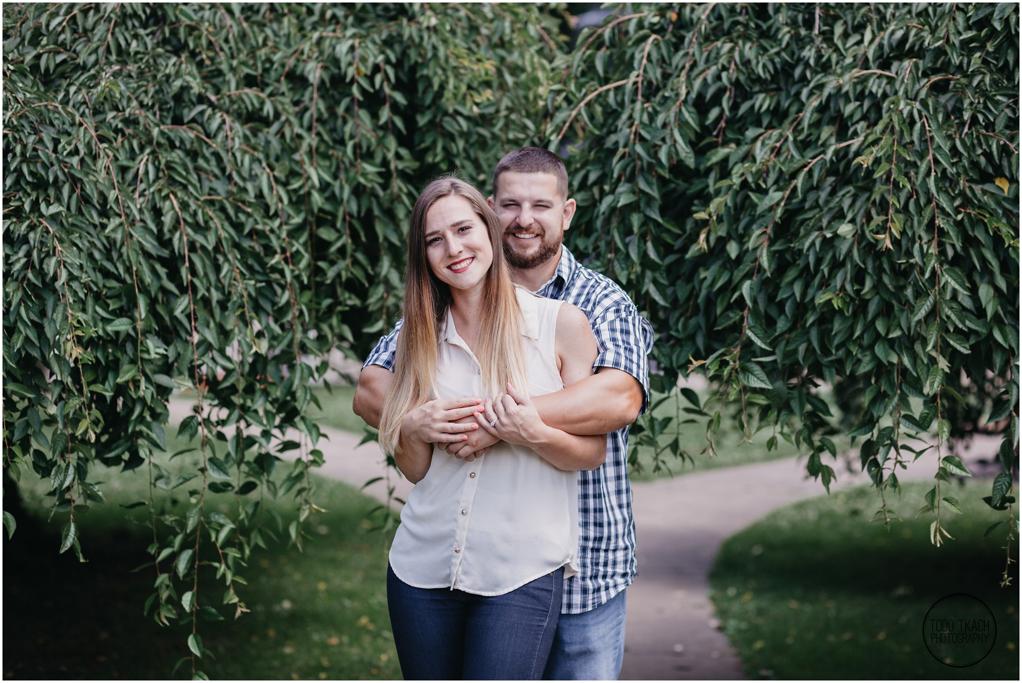 Kim & Brandon Engagement - Park Path Portrait