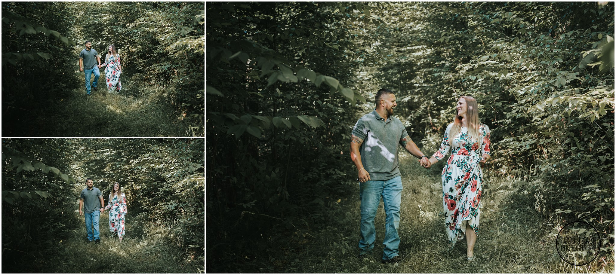 Kim & Brandon Engagement - Forest Walk Collage