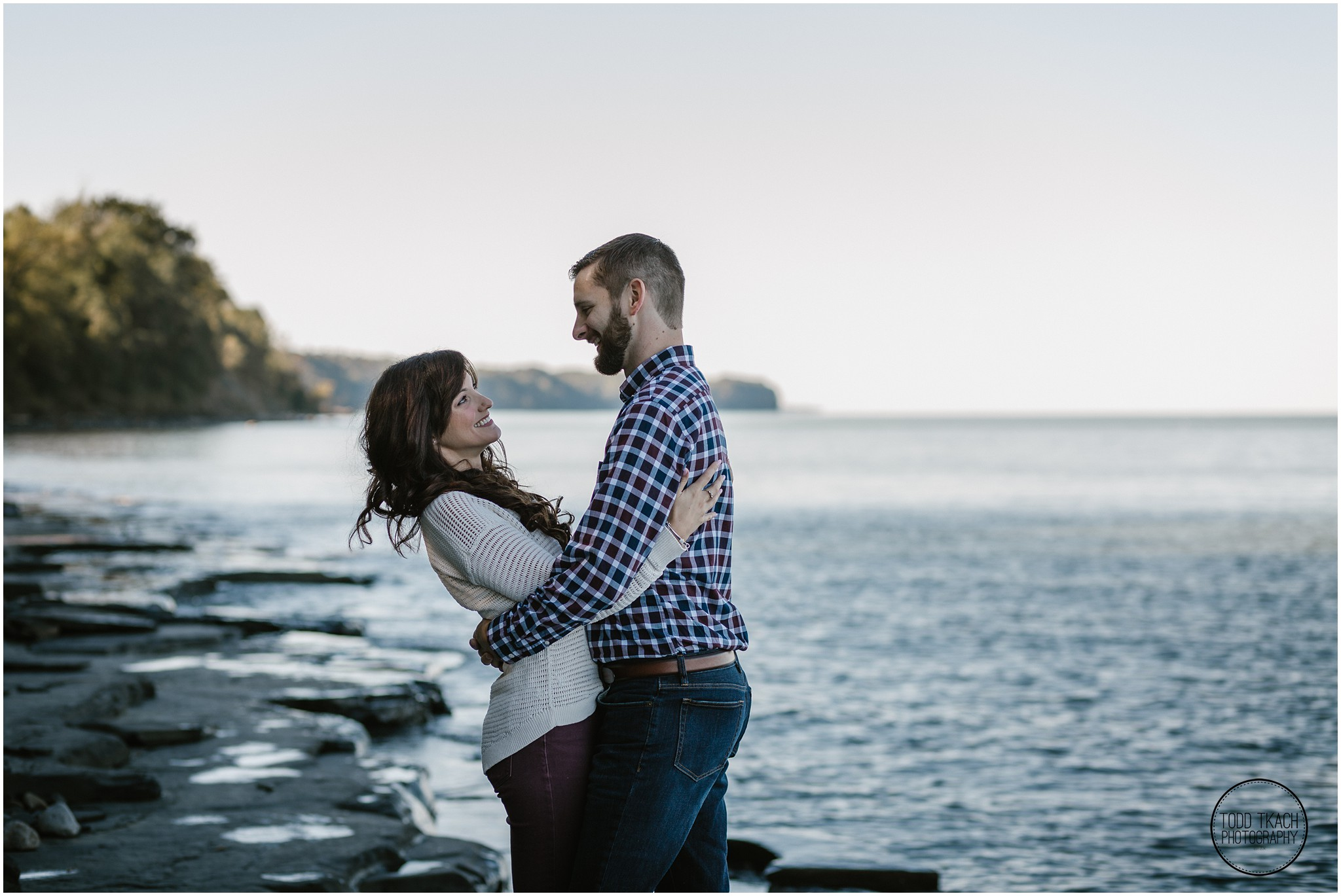 Jessica & Todd Engagement Waterfront Embrace