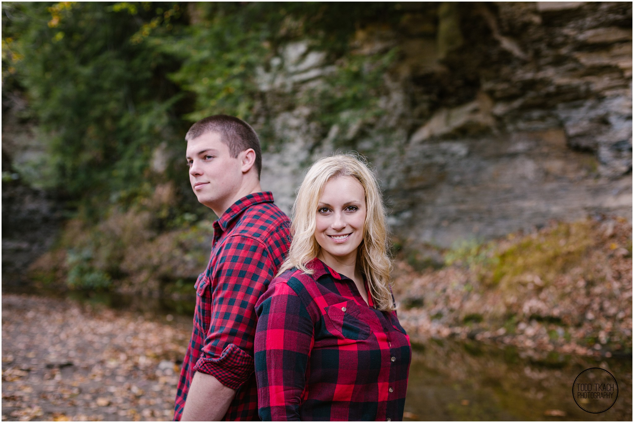Christie & Scott - Rock Wall Portrait