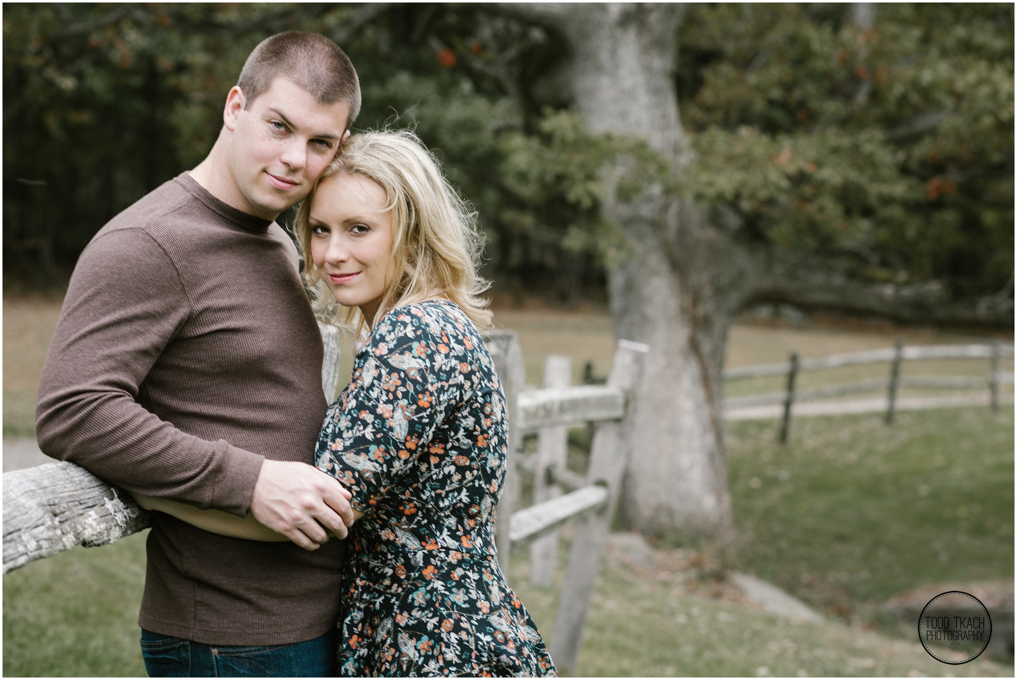 Christie & Scott - Fence Line Portrait