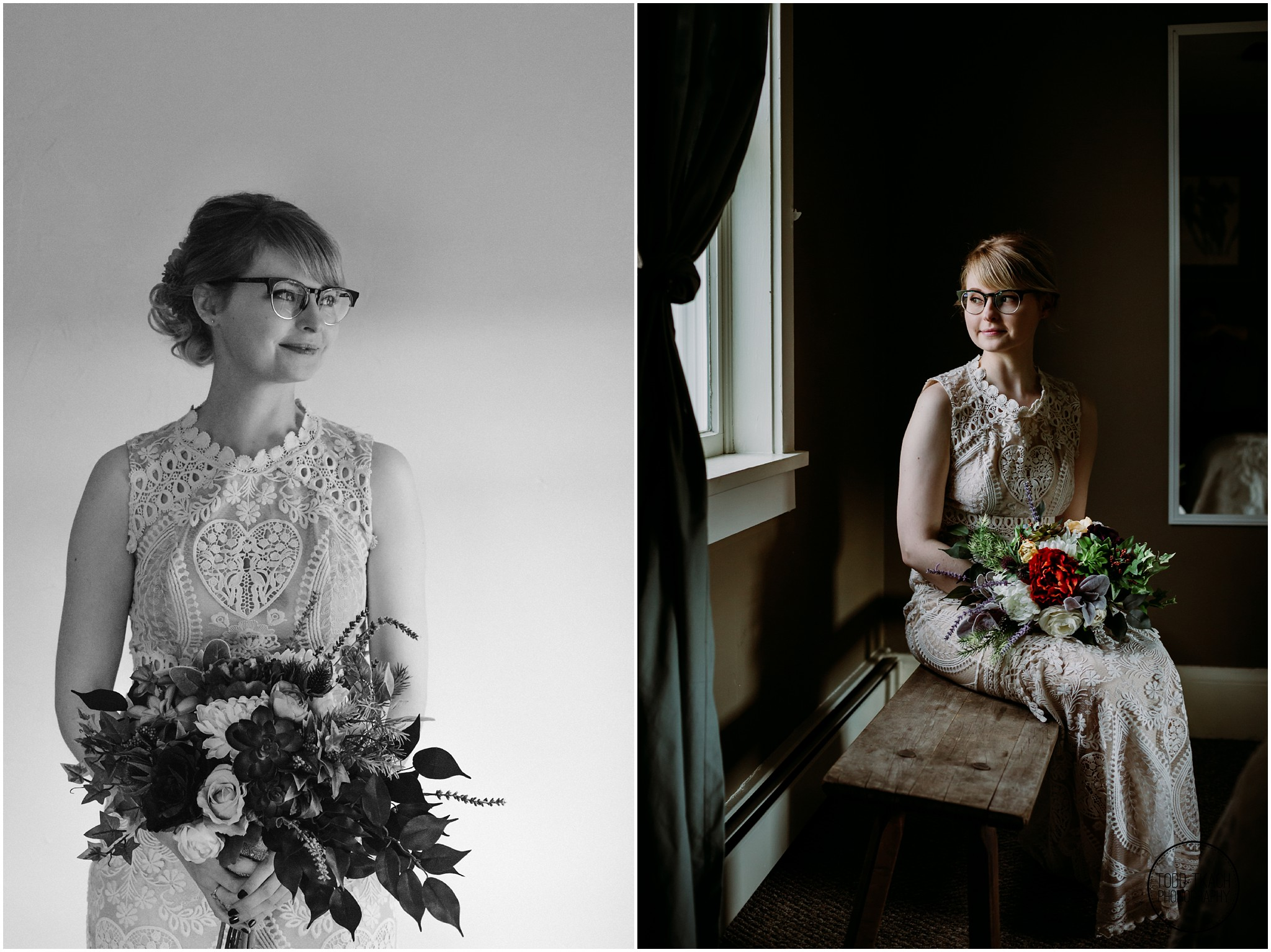 Alyse & Michael Wedding - Alyse Split Screen Portrait