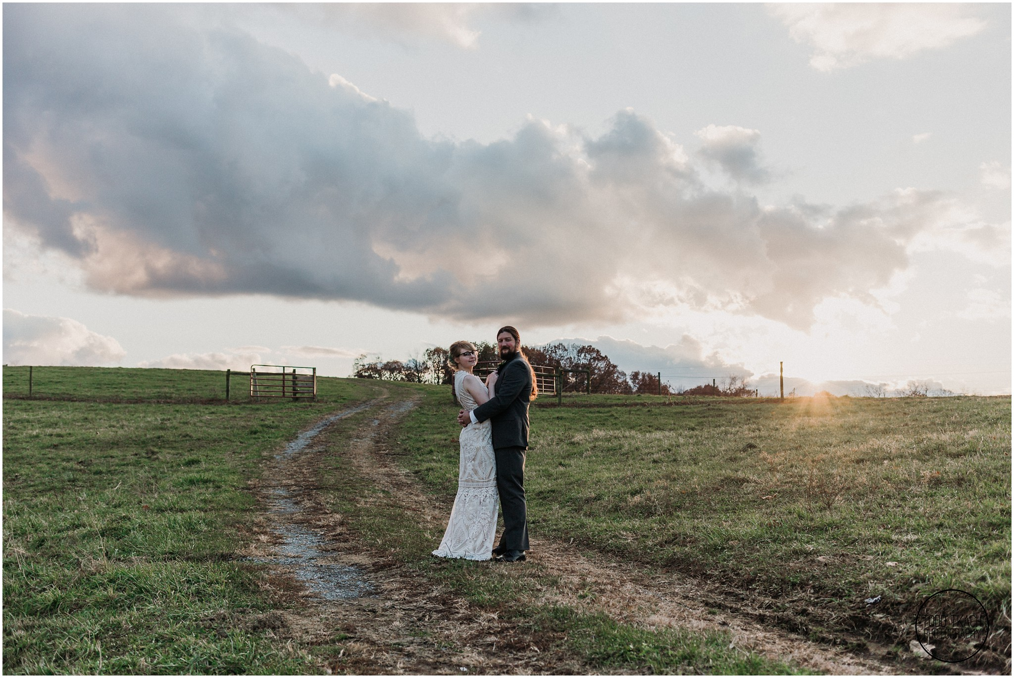 Alyse & Michael Wedding - Outdoor Sunset Portrait