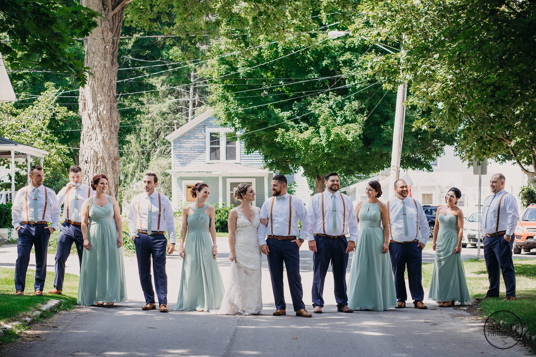 Wedding Party Alley Portrait