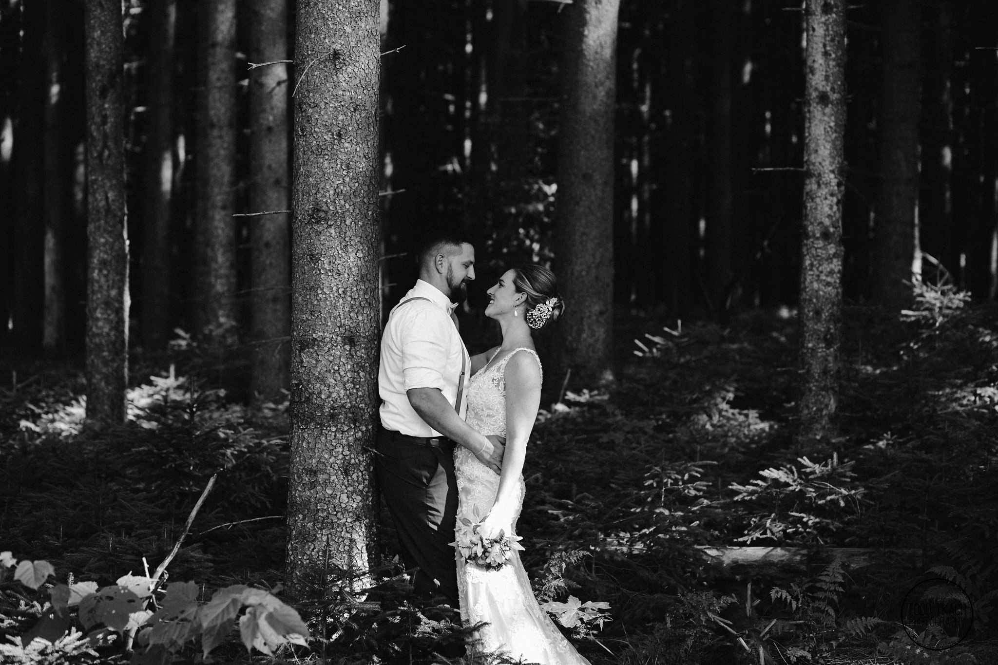 Kim & Brandon Black and White Nature